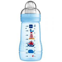 """בקבוק לתינוק 270 מ""""ל מגיל 2+ חודשים MAM-בנים"""