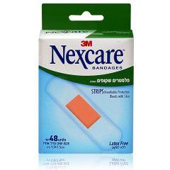 פלסטרים נושמים שקופים נקסקר NEXCARE BREATHABLE STRIPS