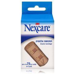 """תחבושת אלסטית נקסקר 75 מ""""מ NEXCARE ELASTIC BANDAGE"""