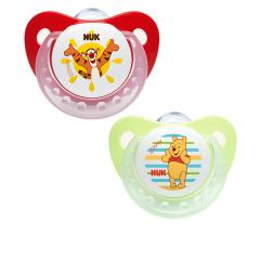 מוצצי סיליקון אורתודנטיים שלב 2 NUK Disney Pooh