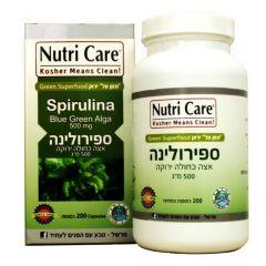 נוטרי קר ספירולינה 500 NUTRI CARE SPIRULINA