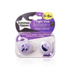 מוצצים זוהרים בחושך סגול זוג 0-6 טומי טיפי Tommee Tippee
