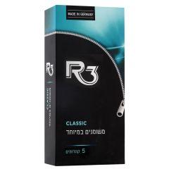 קונדומים משומנים במיוחד 5 יחידות R3 CLASSIC
