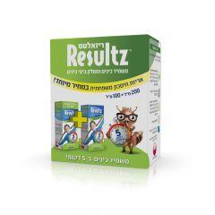 """ריזאלטס משמיד כינים ומסלק ביצי כינים  אריזת חיסכון משפחתית 200+100 מ""""ל Resultz"""