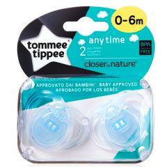 מוצצים לשימוש יומיומי 0 - 6 כחול זוג טומי טיפי Tommee Tippee
