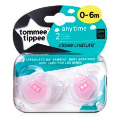 מוצצים לשימוש יומיומי 0 - 6 בנות זוג טומי טיפי Tommee Tippee