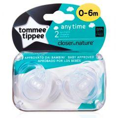 מוצצים לשימוש יומיומי 0 - 6 שקוף זוג טומי טיפי Tommee Tippee
