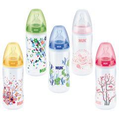 NUK - בקבוק הזנה 0-6 חודשים עם פטמת סיליקון