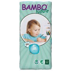 חיתולי תינוקות חד-פעמיים אקולוגיים Bambo Nature שלב 5