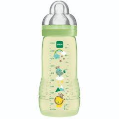 """בקבוק לתינוק 330 מ""""ל מגיל 4+ חודשים צבע ירוק MAM Easy Active"""