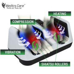 מכשיר עיסוי מתקדם שיאצו וגלגל עיסוי לכפות הרגליים , ידיים , ושוקיים MEDICS CARE
