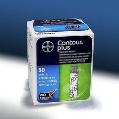 מקלוני בדיקה לרמת סוכר בדם קונטור פלוס CONTOUR PLUS STRIPS