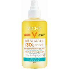 """ספריי מים סולאריים וישי להגנה מהשמש עם חומצה היאלורונית 200 מ""""ל SPF30 VICHY"""