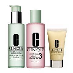 סט שלושת השלבים סוג עור 3 - קליניק Clinique