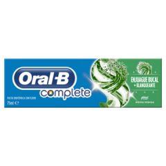 משחת שיניים קומפליט אורל בי עם מי פה להלבנה ORAL B