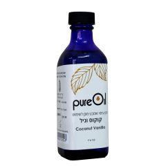 """שמן קוקוס וניל פיור אויל 125 מ""""ל Pure Oil"""