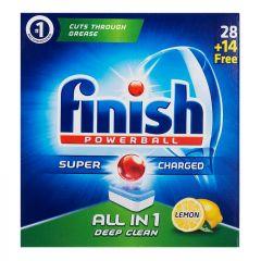 פיניש טבליות למדיח Finish Powerball All In 1 - לימון