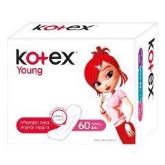 קוטקס יאנג מגני תחתון 60 יחידות Kotex
