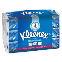 מגבוני אף דו שכבתיים קלינקס 3 חבילות KLEENEX