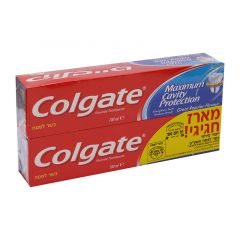 """זוג משחת שיניים קולגייט אדומה משפחתית  100מ""""ל* 2 Colgate"""