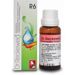 "R6 טיפות הומיאופתיות 22 מ""ל - ד""ר רקווג Dr. Reckeweg"