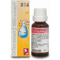 "R14 טיפות הומיאופתיות 22 מ""ל - ד""ר רקווג Dr. Reckeweg"