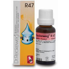 "R47 טיפות הומיאופתיות 22 מ""ל - ד""ר רקווג Dr. Reckeweg"