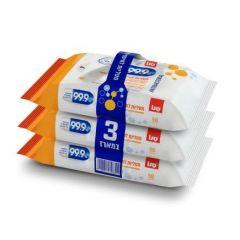 מטליות לחות לניקוי וחיטוי יסודי סנו - 3 חבילות Sano