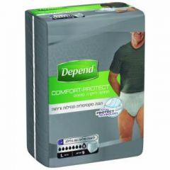 תחתוני לייקרה סופגים לגבר 9 יחידות Depend Comfort Protect מידה L