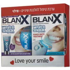 BLANX WHITE SHOCK מארז להלבנת שיניים