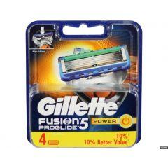 GILLETTE FUSION5 POWER סכיני גילוח 4 יחידות