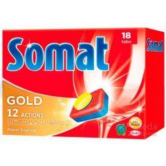 טבליות מדיח סומת 18 יחידות SOMAT GOLD