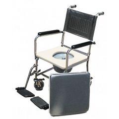 """כסא רחצה ושירותים נירוסטה מושב פלסטיק 51 ס""""מ"""
