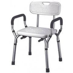 כסא טלסקופי מתכוונן לאמבטיה עם ידיות