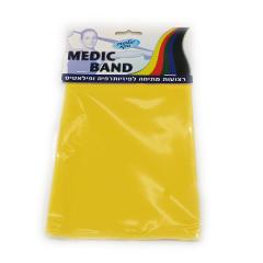 רצועת תרגול נמתחת צהוב MEDIC BAND מדיק ספא