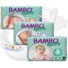 חיתולי תינוקות חד-פעמיים אקולוגיים Bambo Nature שלבים 0 - 2
