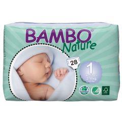 חיתולי תינוקות חד-פעמיים אקולוגיים Bambo Nature שלב 1