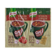 נמס בכוס מרק עגבניות מרכיבים טבעיים 56 גרם - קנור
