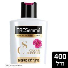 """מרכך טרזמה ללא סולפטים לשיער שעבר החלקה או צביעה 400 מ""""ל Tresemme"""