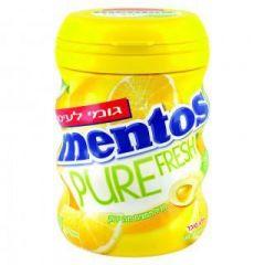 מסטיק לימון מרענן מנטוס 60 גרם בקבוק