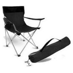 כיסא במאי קמפינג בצבע שחור 46*24*83 כולל תיק נשיאה