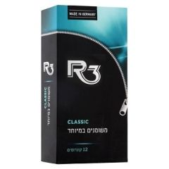 קונדומים משומנים במיוחד 12 אר-3 R3 CLASSIC