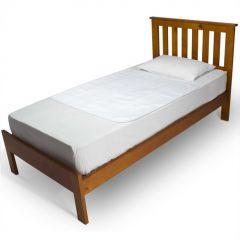 """ברולי - סדינית מגן למיטה 100 ס""""מ * 100 ס""""מ -  לבן"""