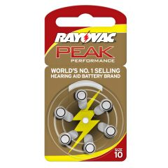 סוללה למכשיר שמיעה מס' 10 RAYOVAC PEAK