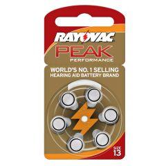 סוללה למכשיר שמיעה מס' 13 RAYOVAC PEAK