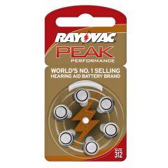 סוללה למכשיר שמיעה מס' 312 RAYOVAC PEAK