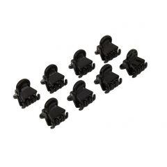 שמיניית קליפסים שחורים