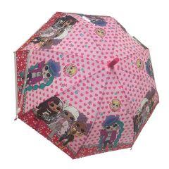 מטרייה לילדים לול בנות אדום/ סגול