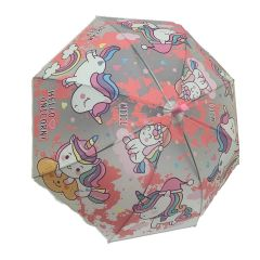 מטרייה לילדים חד קרן ורודה