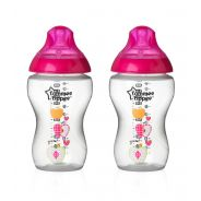 """2 בקבוקים מאויירים בנות 340 מ""""ל ללא ביספינול Tommee Tippee"""